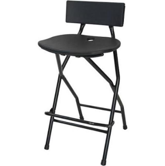 Where to find Chair, Bar Height Black with back in Virginia Beach