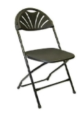 Rental store for Black Shell Back Folding Chairs in Virginia Beach VA