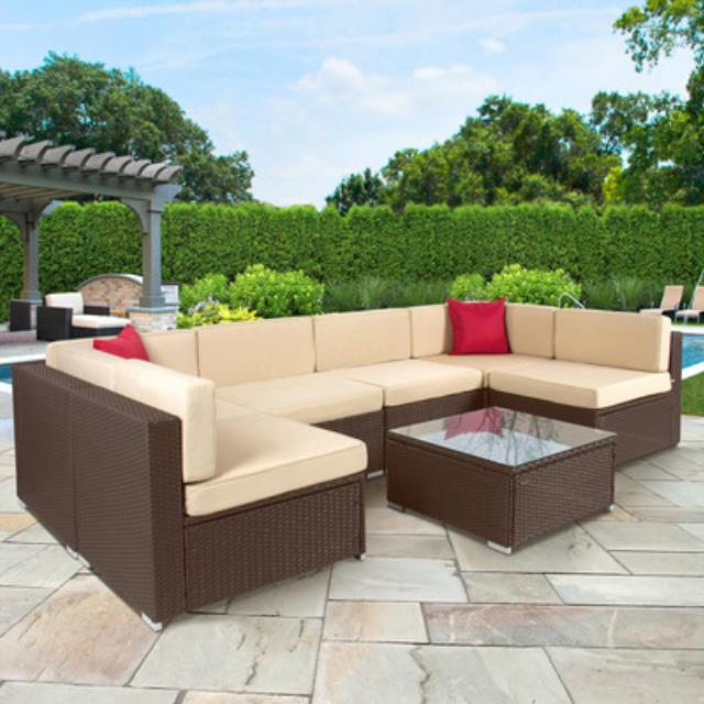 Where to find Wicker Outdoor Furniture, 7 piece set in Virginia Beach