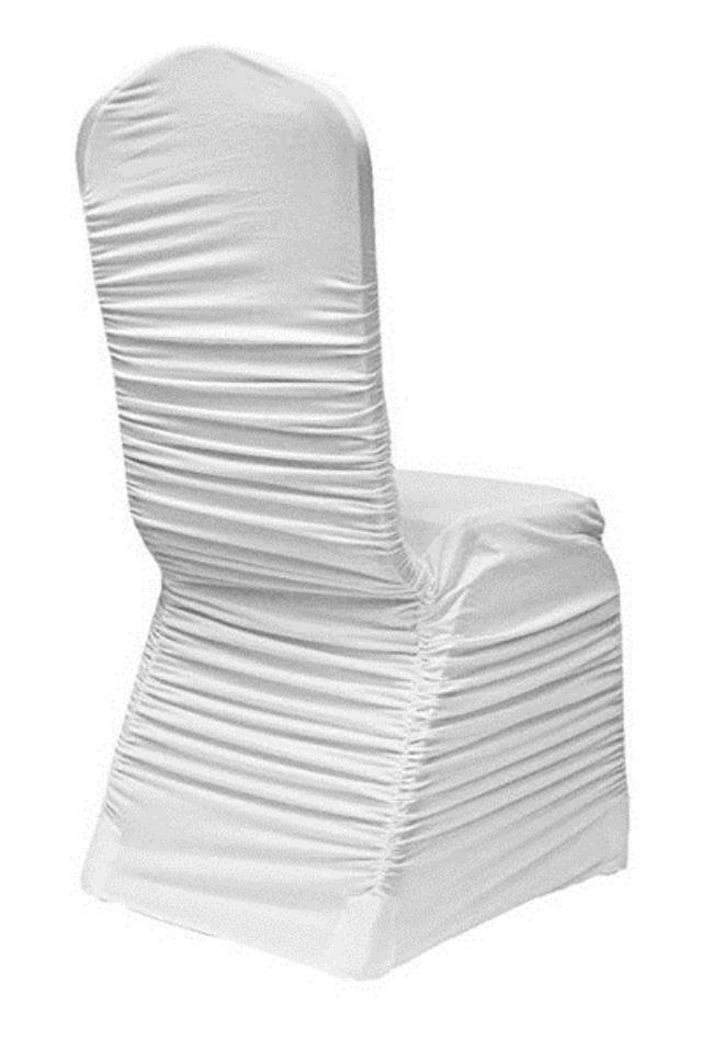 Where to find Chair Cover, White Ruched Back Scuba in Virginia Beach