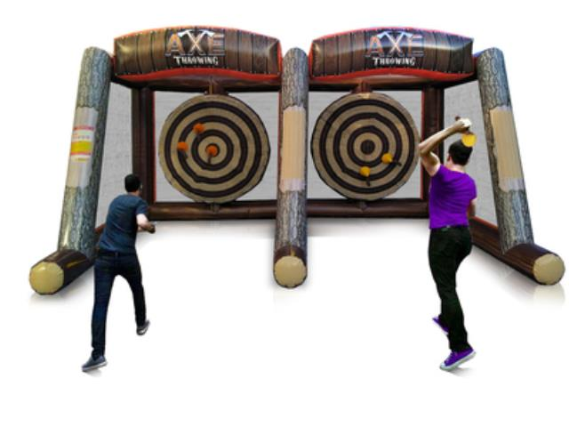 Where to find Inflatable Axe Throwing with attendant in Virginia Beach